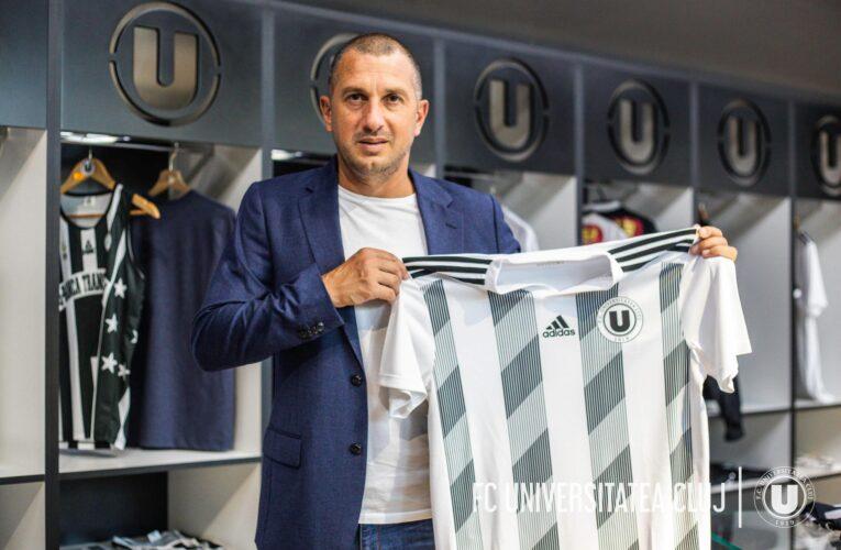 Dat afară de la Petrolul sezonul trecut, Costel Enache a devenit noul antrenor al Universității Cluj