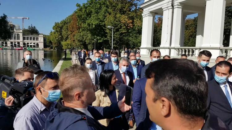 Extremistul agresiv Călin Mărincuș, membru și susținător al PSD Cluj-Napoca, a făcut circ la vizita electorală premierului Ludovic Orban la Cluj