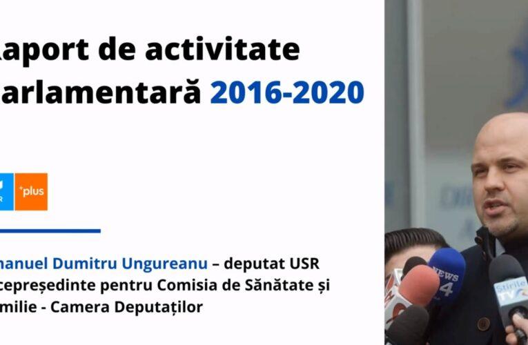 Emanuel Ungureanu vrea un nou mandat de deputat și și-a prezentat raportul de activitate pe 350 de pagini – VIDEO