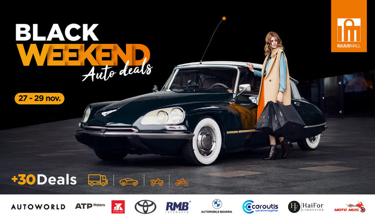 Black Weekend Auto Deals la Iulius Mall Cluj! Profită de reduceri la peste 30 de modele auto (P)