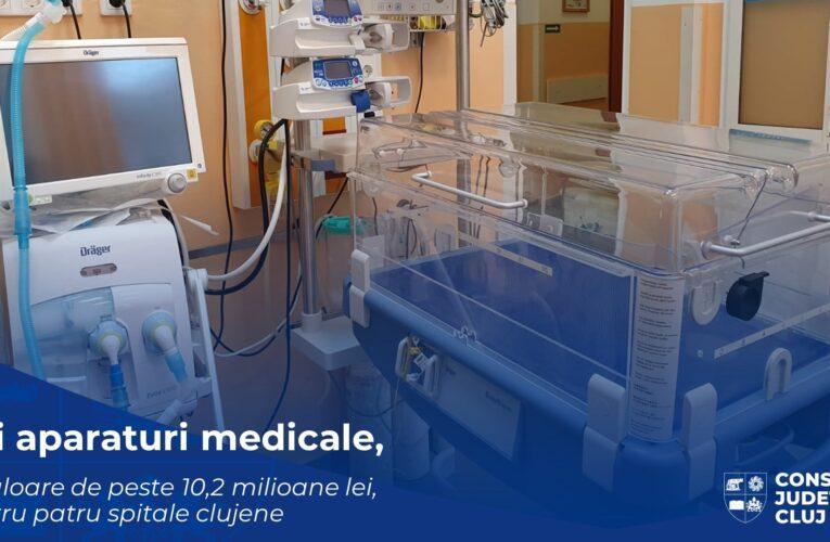 Investiție de peste 10.2 milioane de lei în 177 de echipamente de ultimă generație pentru patru spitale clujene