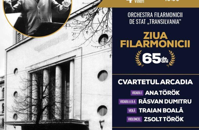"""ZIUA FILARMONICII. 65 de ani de muzică la Filarmonica de Stat """"Transilvania"""""""