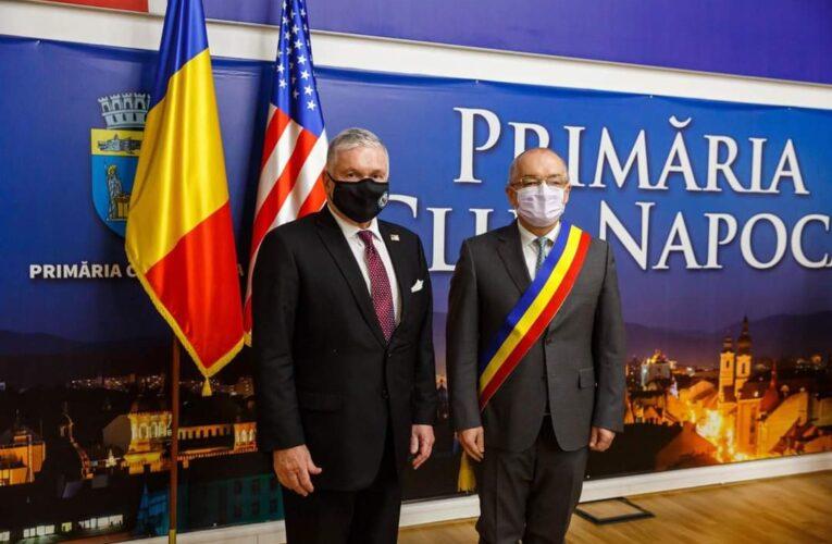 Vizita ambasadorului SUA în România la Primăria Cluj-Napoca
