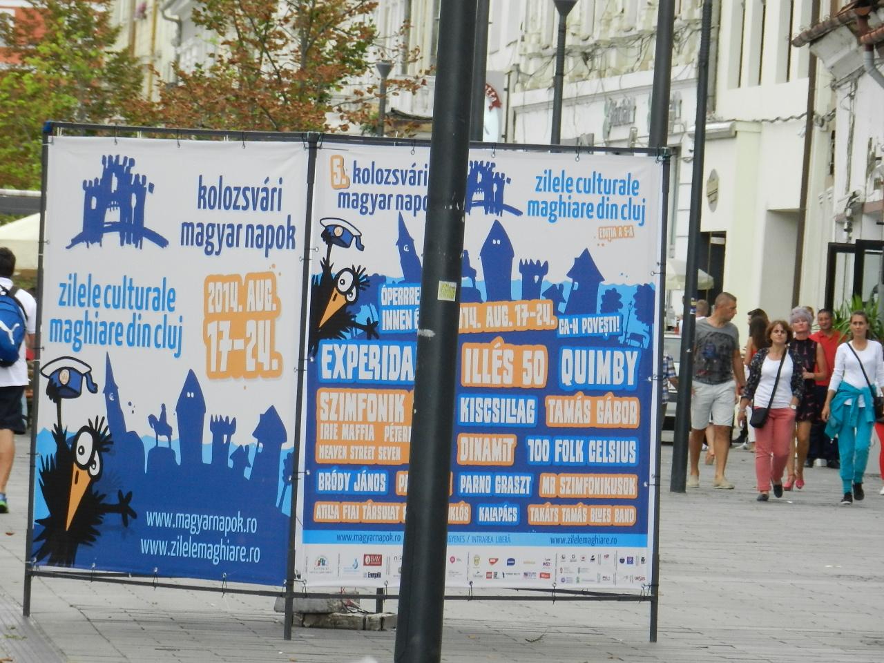 Strazile inchise circulatiei de Zilele Culturale Maghiare